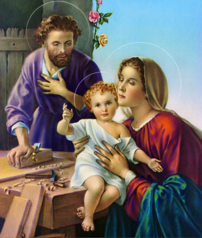 St. Joseph, Blessed Mary, Infant Jesus
